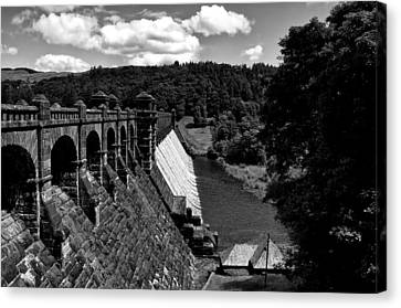 Canvas Print featuring the photograph Lake Vyrnwy Resevoir by Stephen Taylor