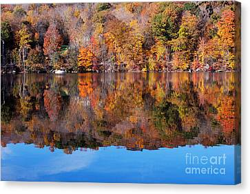 Lake Waramaug Blue Canvas Print by Andrea Simon
