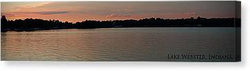 Lake Webster Indiana Canvas Print by Thomas Fouch