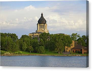 Lake With View Of South Dakota State Canvas Print