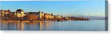 Canvas Print - Lake Zurich Panorama by Marc Huebner