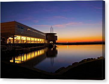 Canvas Print featuring the photograph Lakefront Sunrise by Jonah  Anderson