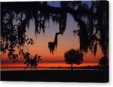 Lakefront Sunset Canvas Print