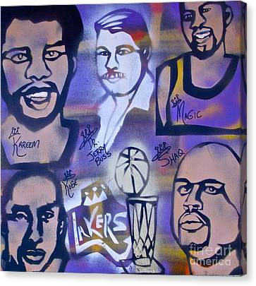 Lakers Love Jerry Buss 2 Canvas Print by Tony B Conscious