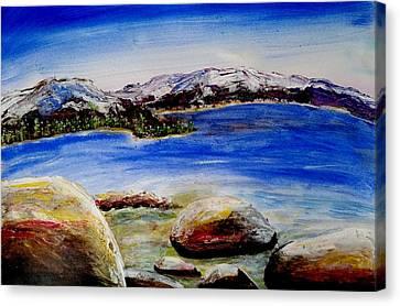 Lakeshore Boulders Canvas Print