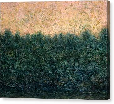 Lakeshore Sunrise Canvas Print by James W Johnson