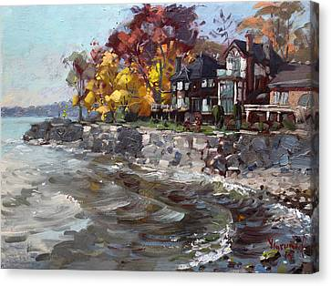 Lakeshore Mississauga Canvas Print by Ylli Haruni