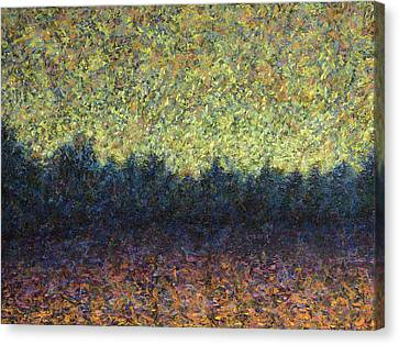 Lakeshore Sunset Canvas Print by James W Johnson