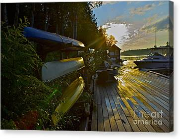 Canvas Print featuring the photograph Lakeside by Alice Mainville