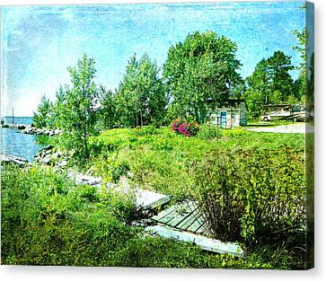 Lakeside Charm Canvas Print by Dianne  Lacourciere