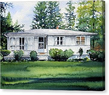 Lakeside Cottage Canvas Print by Hanne Lore Koehler
