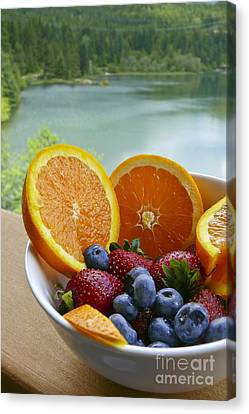 Lakeside Fruit Bowl Canvas Print by Maria Janicki