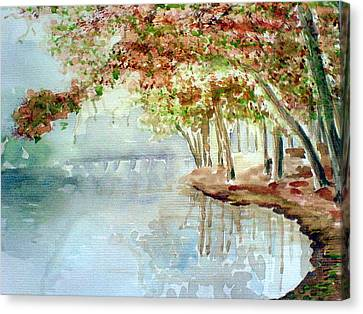Lakeside In The Carolinas Canvas Print