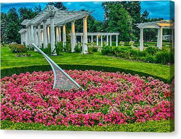Lakeside Park Floral Gardens Canvas Print