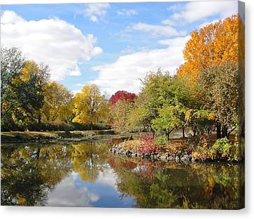Lakeside Park Canvas Print