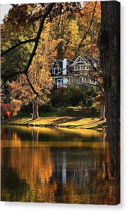 Canvas Print featuring the photograph Lakeside Reflects... by Tammy Schneider