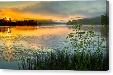 Lakeside Sunrise Canvas Print by Bill Wakeley