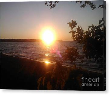 Lakeside Sunset Canvas Print