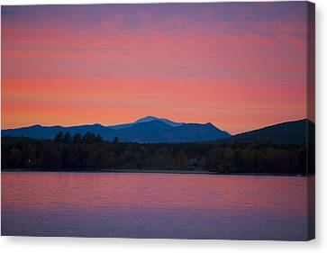 Canvas Print featuring the photograph Lakeside Sunset by Larry Landolfi