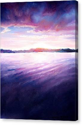 Lakeside Sunset Canvas Print by Shana Rowe Jackson