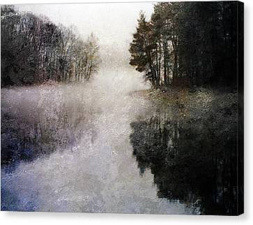 Lakeside Trees Canvas Print by Bruce Rolff