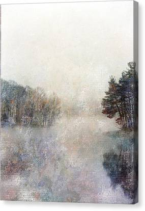 Lakeside Vertical Canvas Print by Bruce Rolff