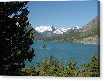 Lakeview In Glacier National Park Canvas Print