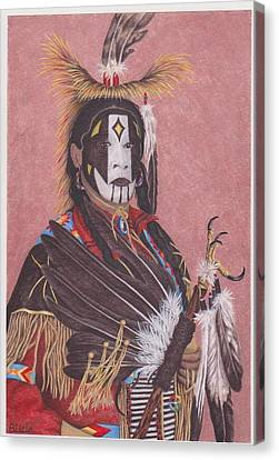 Lakota Indian Spirit Ceremonial Dress Canvas Print by Billie Bowles