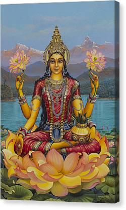 Lakshmi Devi Canvas Print by Vrindavan Das