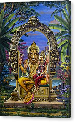 Lakshmi Narasimha Canvas Print by Vrindavan Das