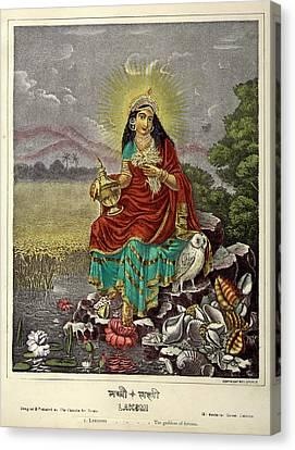 Lakshmi The Goddess Of Fortune Canvas Print