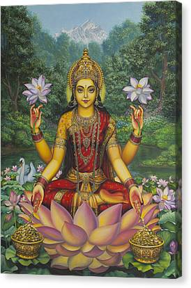 India Canvas Print - Lakshmi by Vrindavan Das