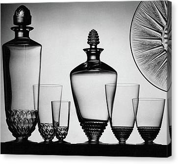 Lalique Glassware Canvas Print by  The 3