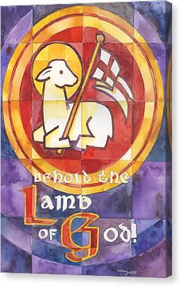 Agnus Canvas Print - Lamb Of God by Mark Jennings