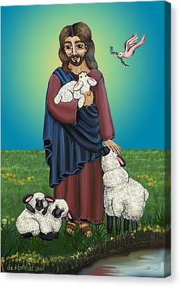 Lamb Of God Canvas Print by Victoria De Almeida
