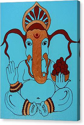 19 Lambakarna-large Eared Ganesha Canvas Print