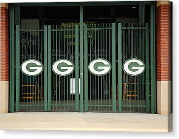 Lambeau Field - Green Bay Packers Canvas Print by Frank Romeo