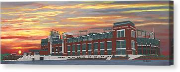 Lambeau Sunset Canvas Print