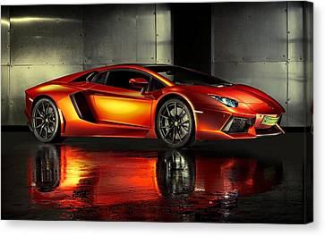 Lamborghini Aventador Canvas Print by Movie Poster Prints