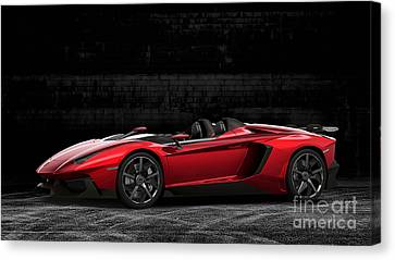 Lamborghini Aventador Roadster Canvas Print by Marvin Blaine
