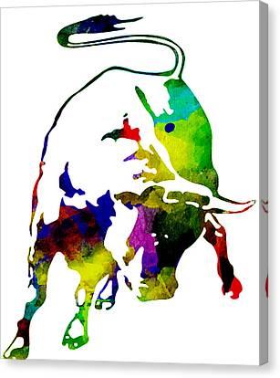 Lamborghini Bull Emblem Colorful Abstract. Canvas Print