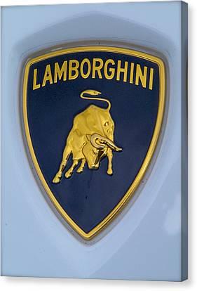 Lamborghini Car Badge Canvas Print by John Colley