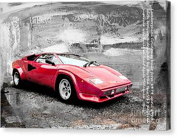 Lamborghini Countach Canvas Print