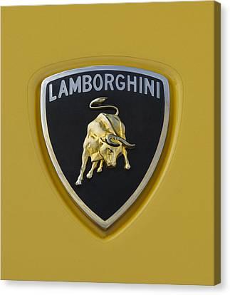 Lamborghini Emblem 2 Canvas Print by Jill Reger