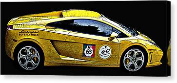 Sheats Canvas Print - Lamborghini Gallardo Side Study by Samuel Sheats