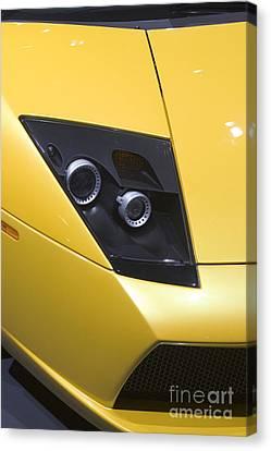 Canvas Print featuring the photograph Lamborghini by Jim West
