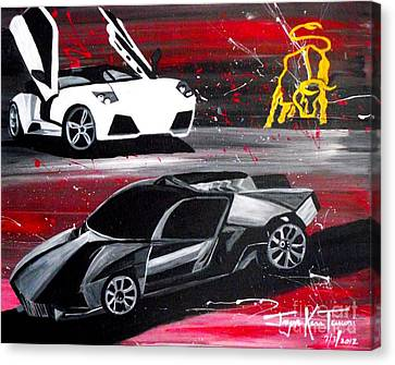Lamborghini Leverage Canvas Print
