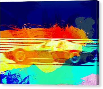 Lamborghini Miura Side 1 Canvas Print by Naxart Studio
