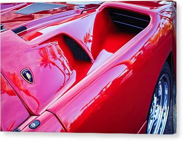 Lamborghini Side Emblem -0116c Canvas Print by Jill Reger