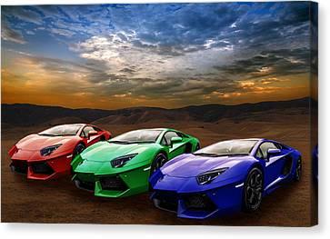 Lamborghini Triplet Canvas Print